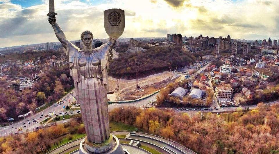 The Motherland monumental sculpture in Kiev