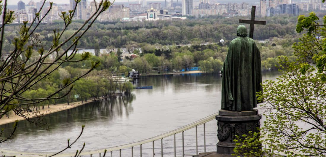The Saint Vladimir Monument in Kiev dedicated to the Great Prince of Kiev