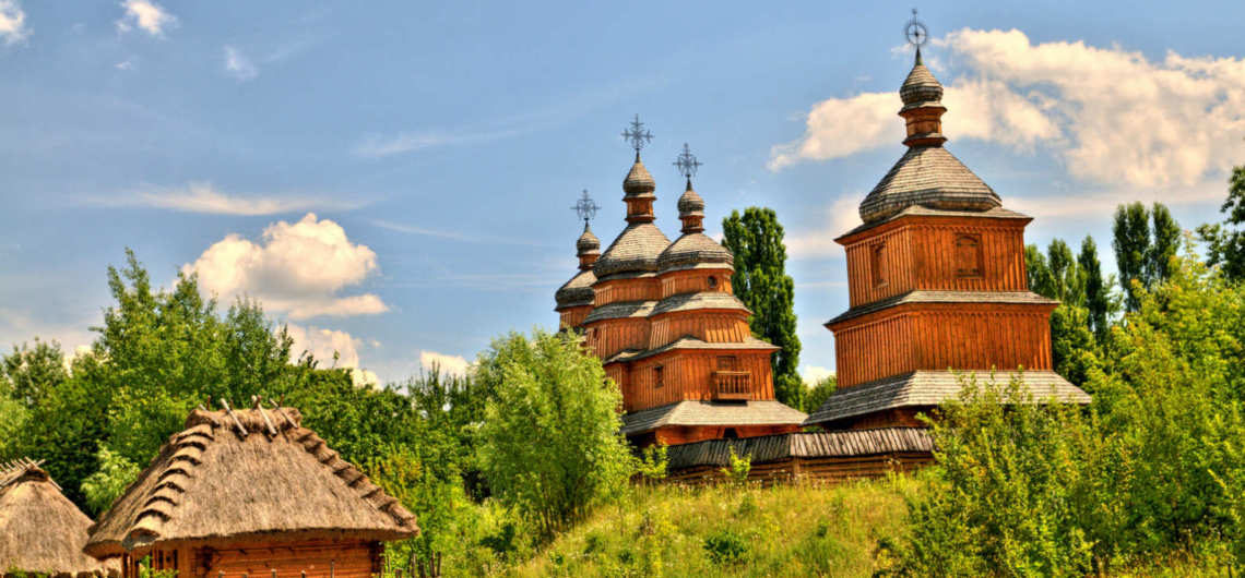 Pirogovo the National museum of Folk Architecture and Life